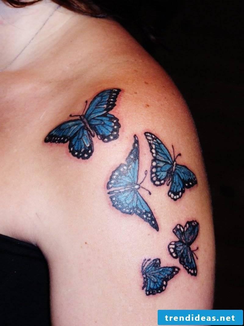 Tattoo butterflies women