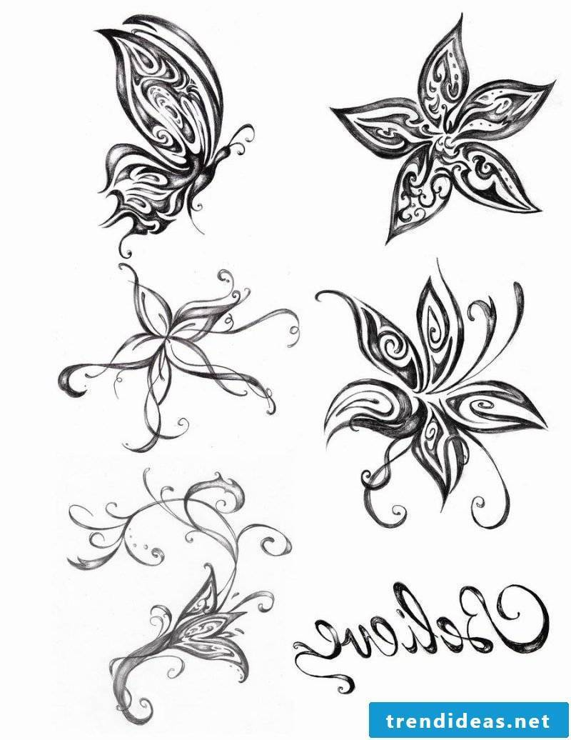 Tattoo butterfly templates