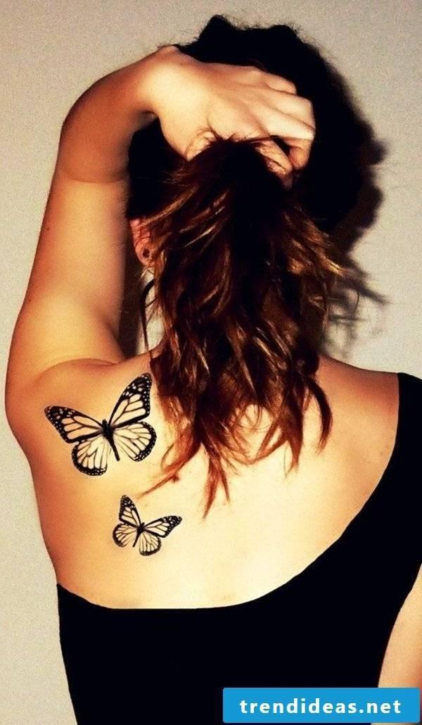 Tattoo butterfly back