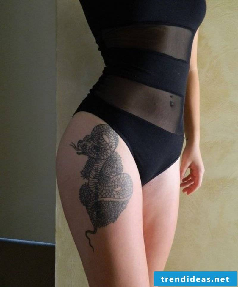 Snakes Tattoo is provocatively portrayed by women