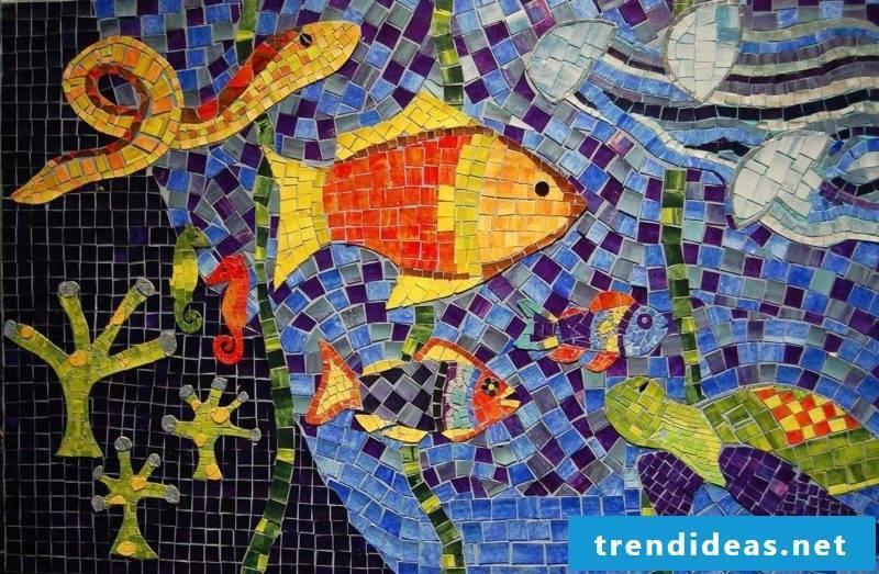 Mosaic craft ideas underwater world