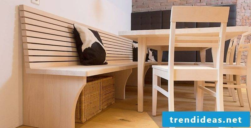Corner bench yourself build DIY ideas