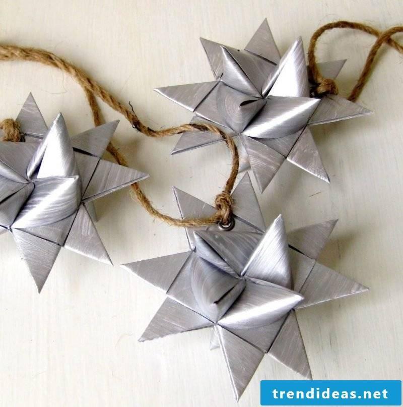 origami stars silver