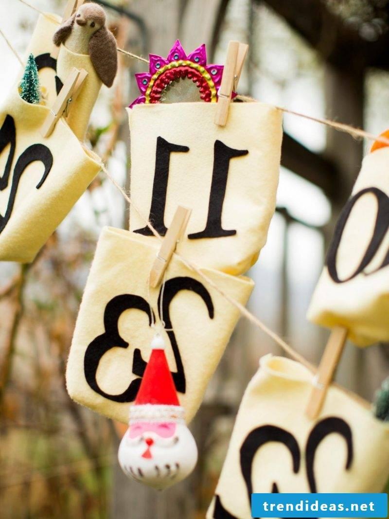 Sewing advent calendar - DIY idea with washing glands