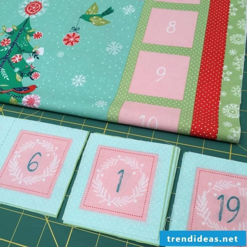 Sew Advent Calendar - Instructions Step 2