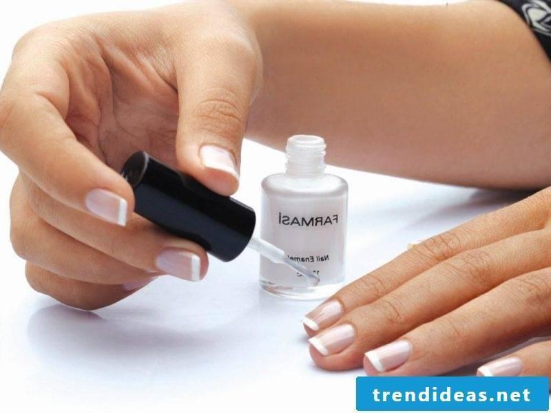 Nail art french manual step 2