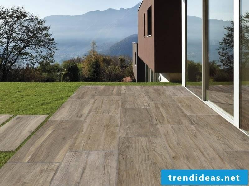 Terassenboden wood look