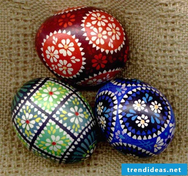 Sorbian easter eggs gorgeous look
