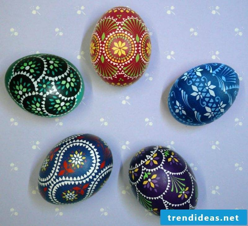 Sorbian easter eggs design ideas wax reserve technique