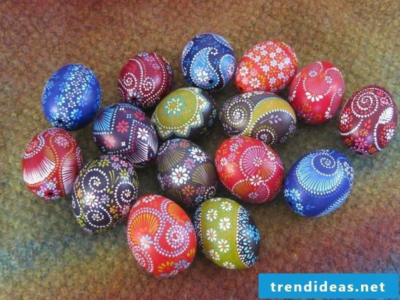 Sorbian easter eggs creative design ideas wax reserve technique