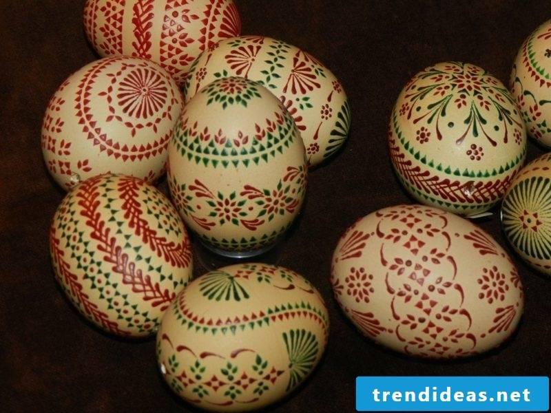 Bossiertechnik Sorbian easter eggs