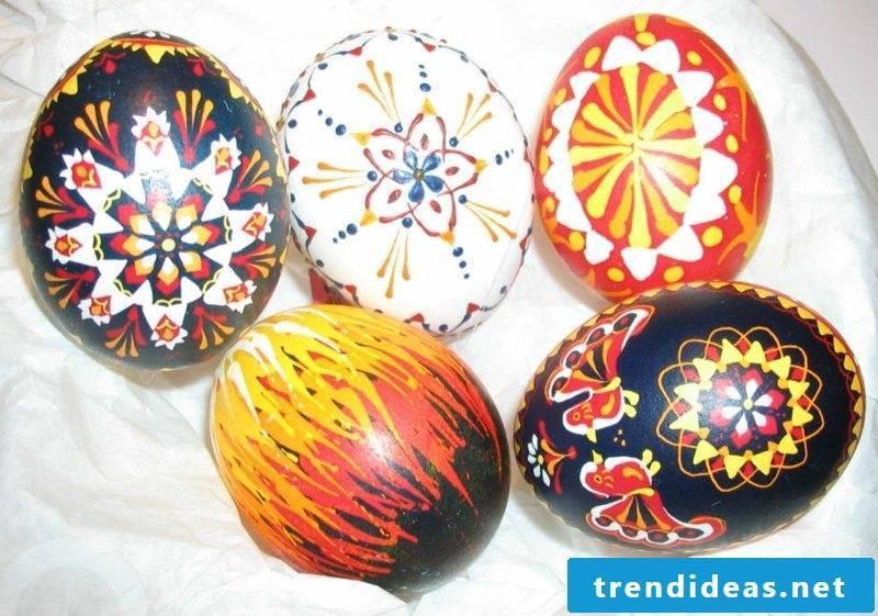 Sorbian easter eggs creatively designed