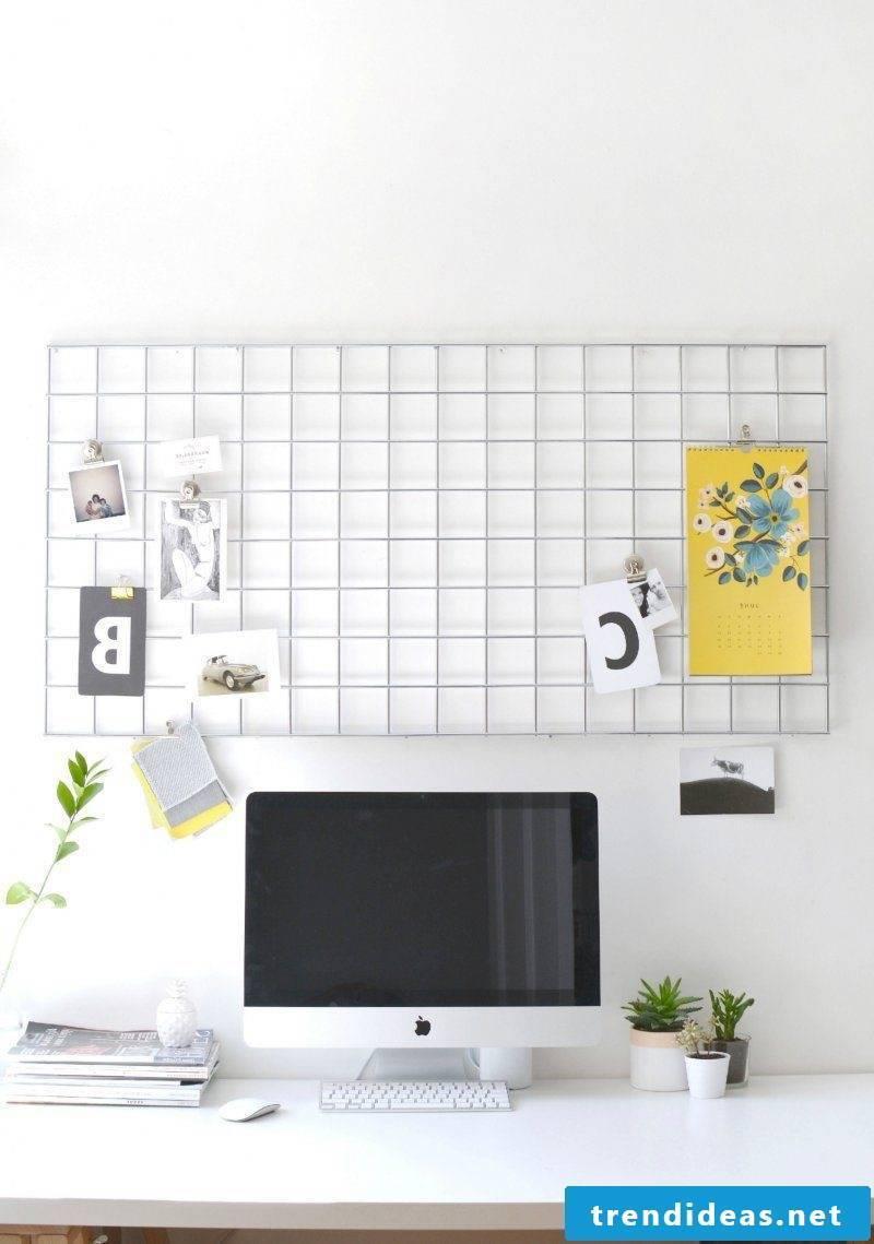 Memo board itself make DIY idea