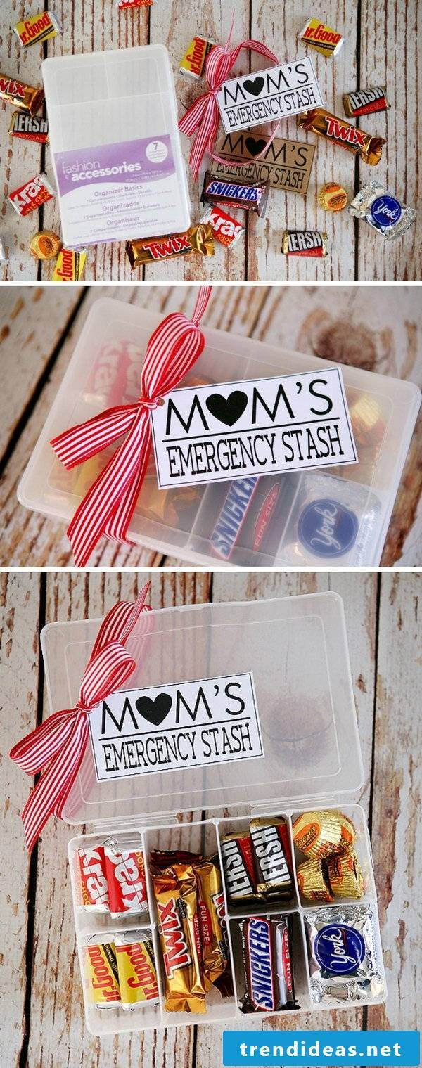 Make sweet gift for mother herself