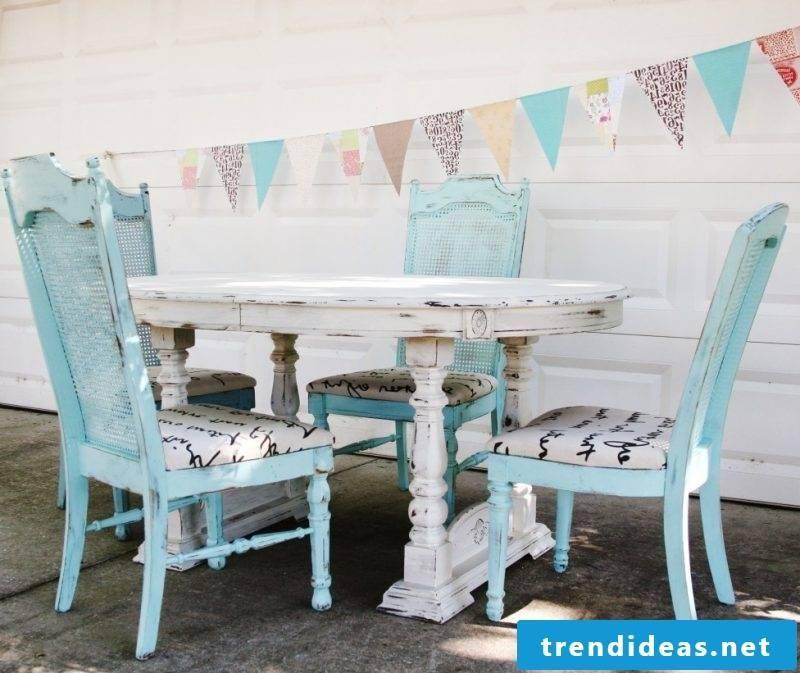 diy furniture blue