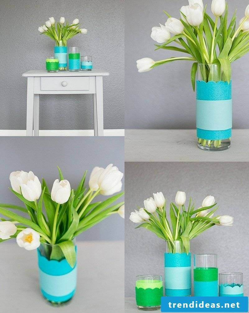DIY ideas vase with paper decorate