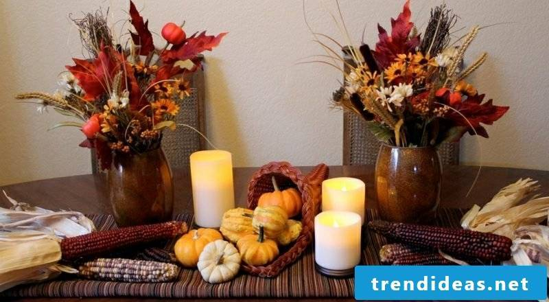 Craft ideas table decoration autumn