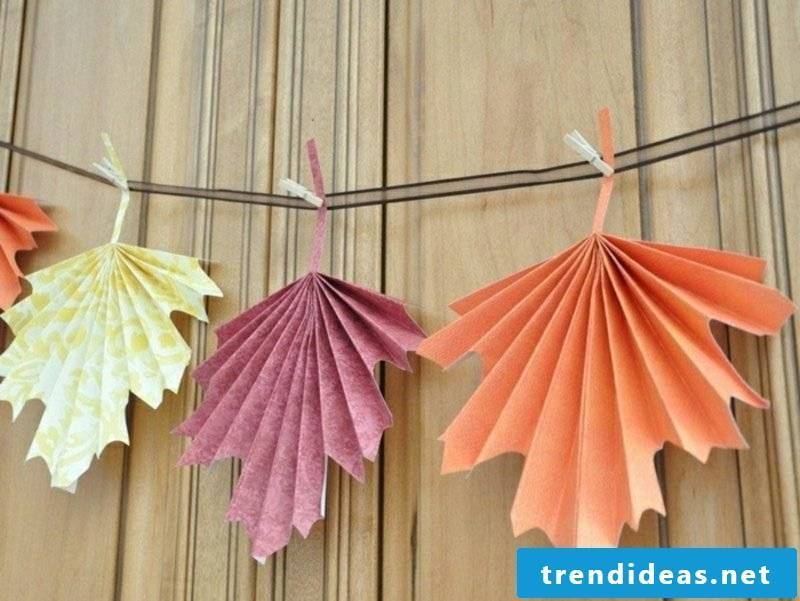 Crafting ideas Autumn garland