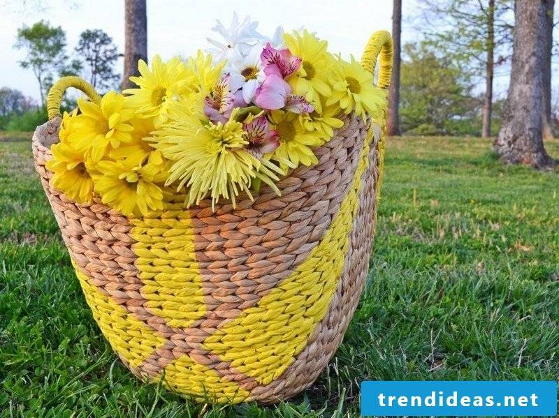 Crafting ideas rattan basket paint
