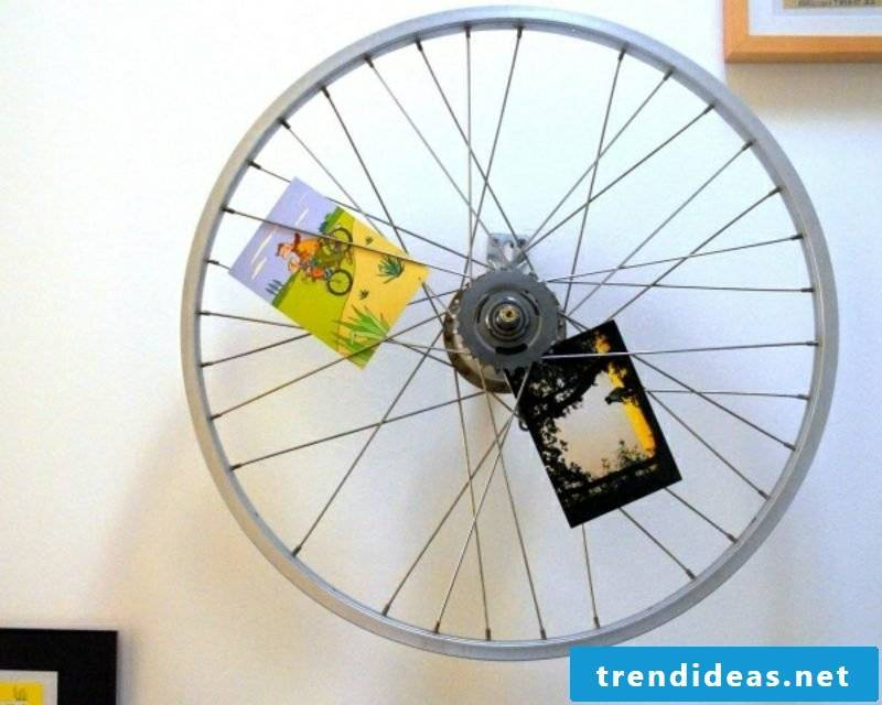 Wall decoration itself make bicycle parts