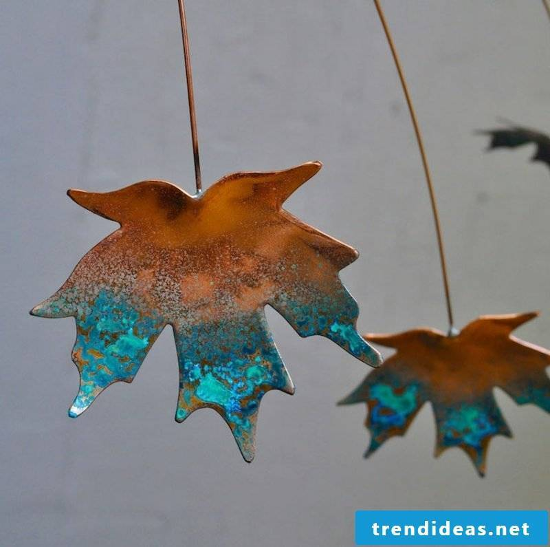 DIY with children Autumn DIY ideas with leaves