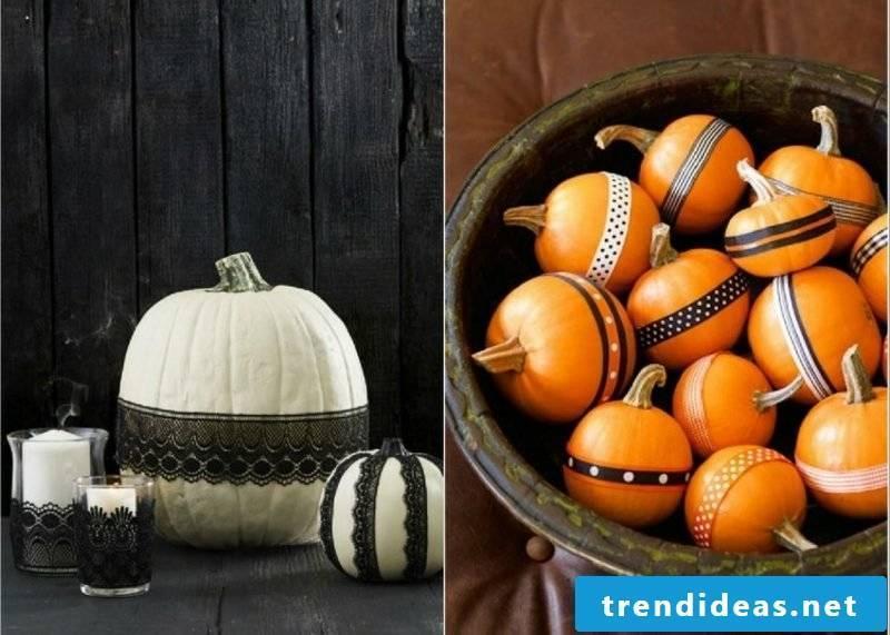 DIY with autumn pumpkins