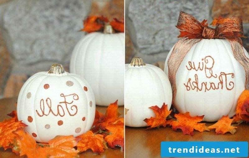 DIY ideas make stylish pumpkin decoration yourself