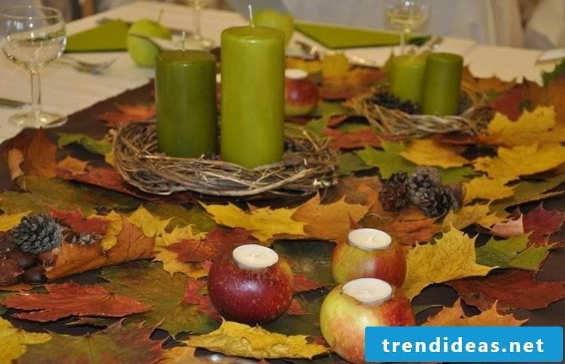 Autumn table top inspirational ideas
