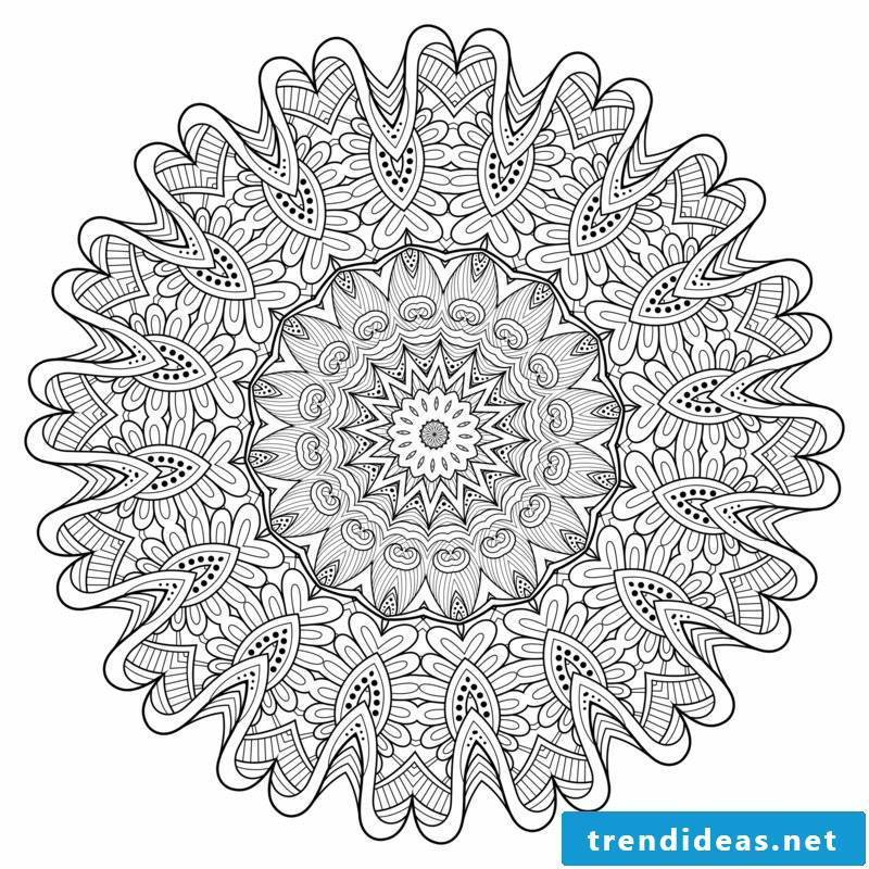 Mandala templates center
