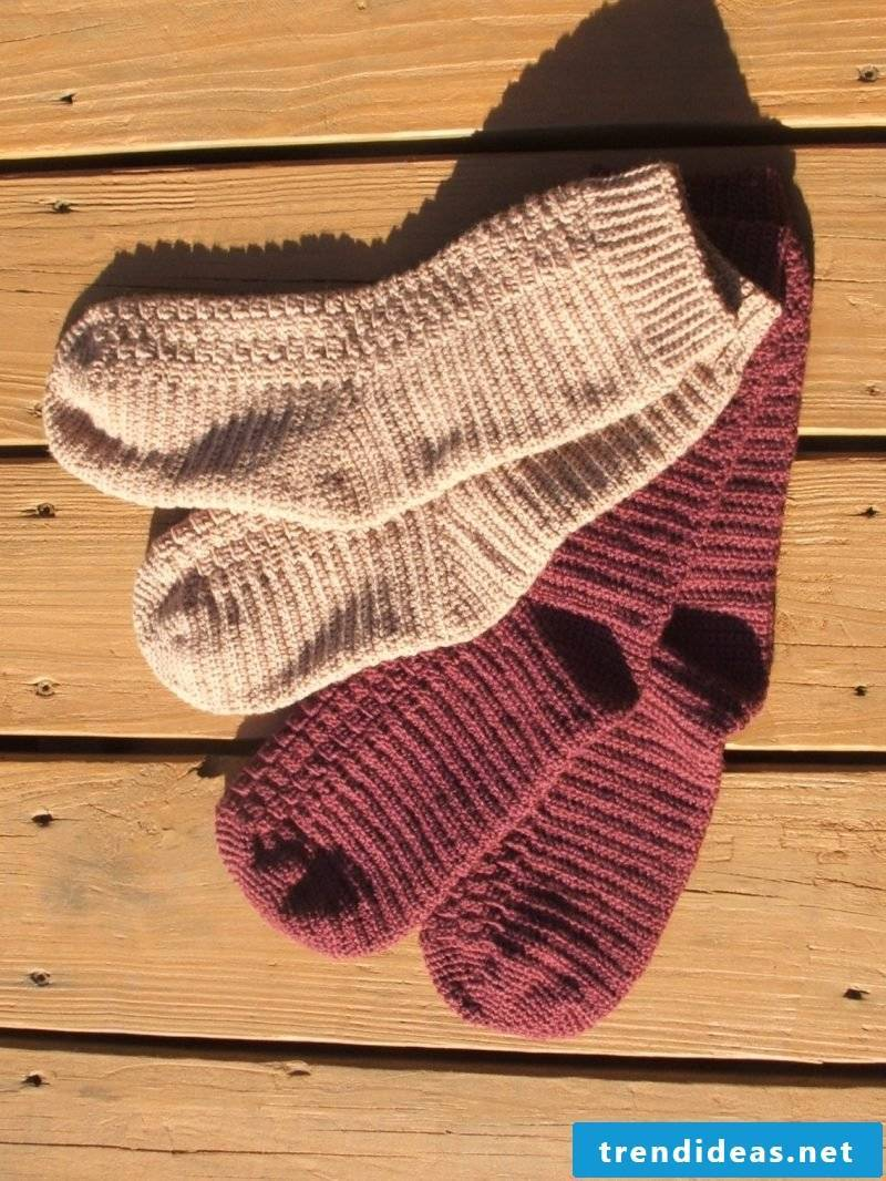 Knitting pattern for socks: follow our instructions