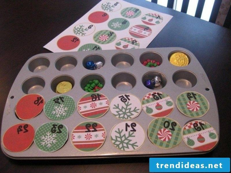 Advent calendar baking pan Ideas and inspirations Christmas decoration