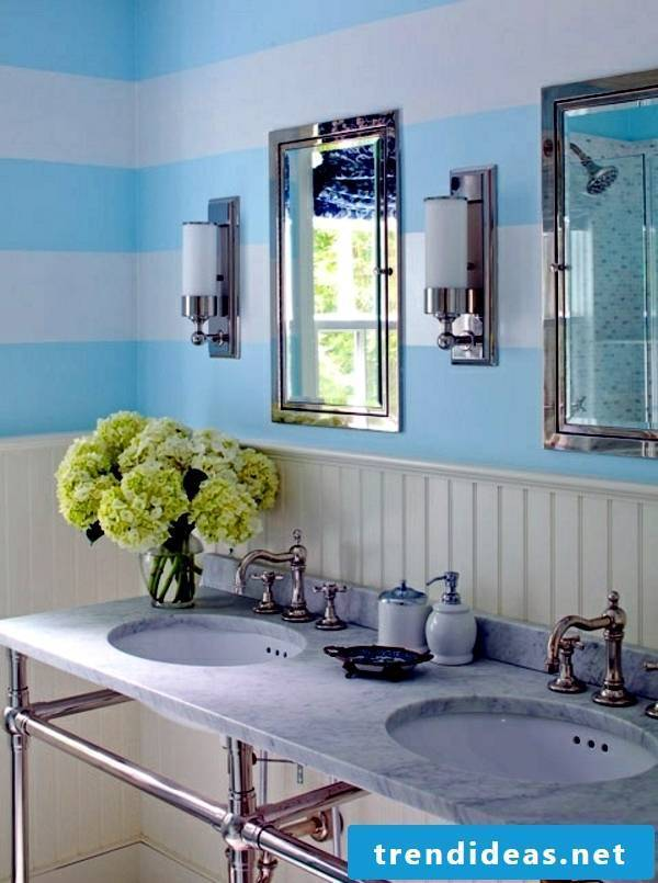 bathroom design ideas rustic style combined with flowers gives the bathroom a maritime look