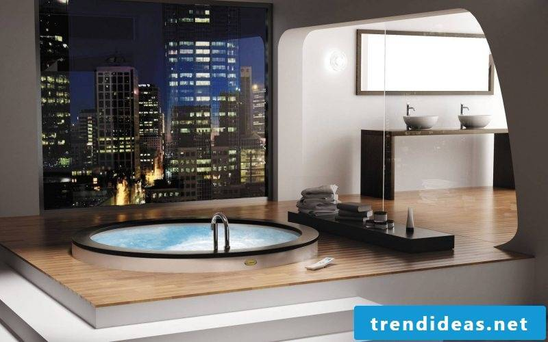 badgetsaltung ideas for luxury bathroom on the last floor with a beautiful view