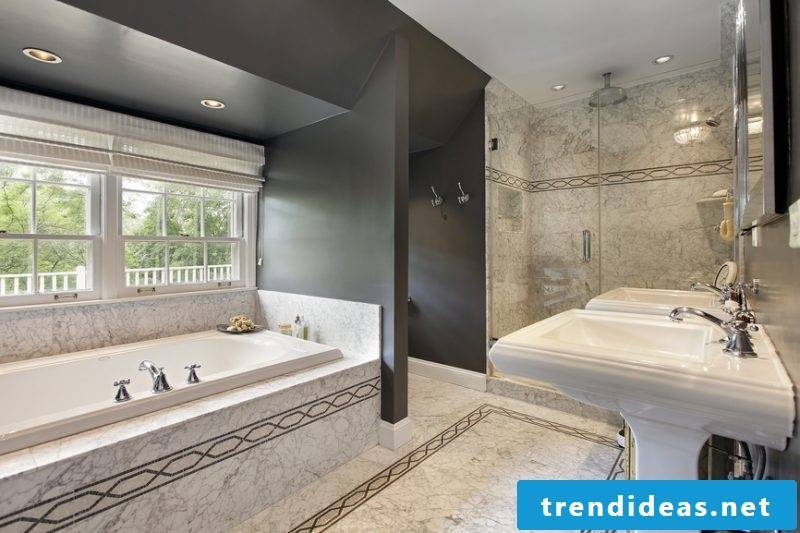 badgetsaltung ideas for luxury bath with traditional motifs on the noble ceramics