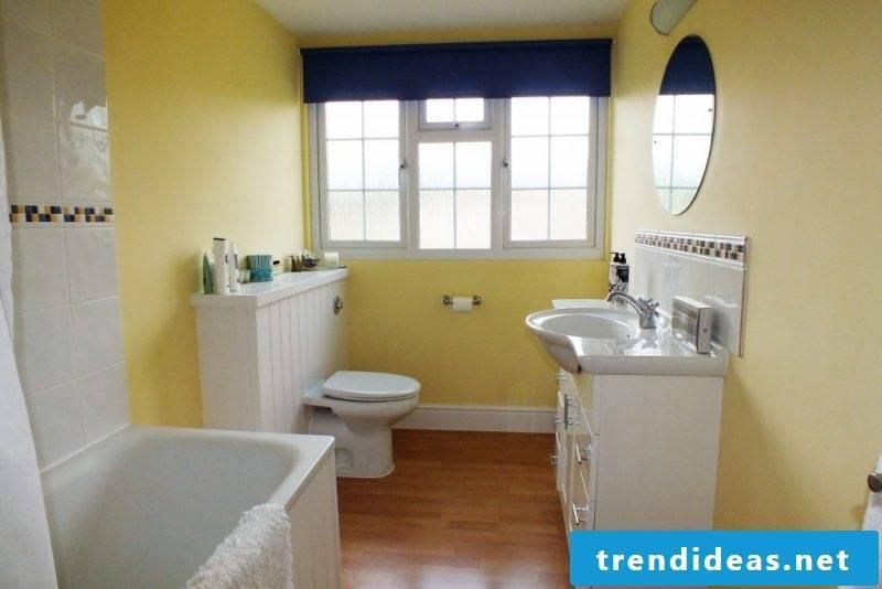 bathroom design ideas for family bathroom in yellow nuances