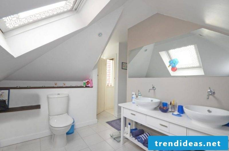 bathroom design ideas for white family bathroom offering plenty of free space