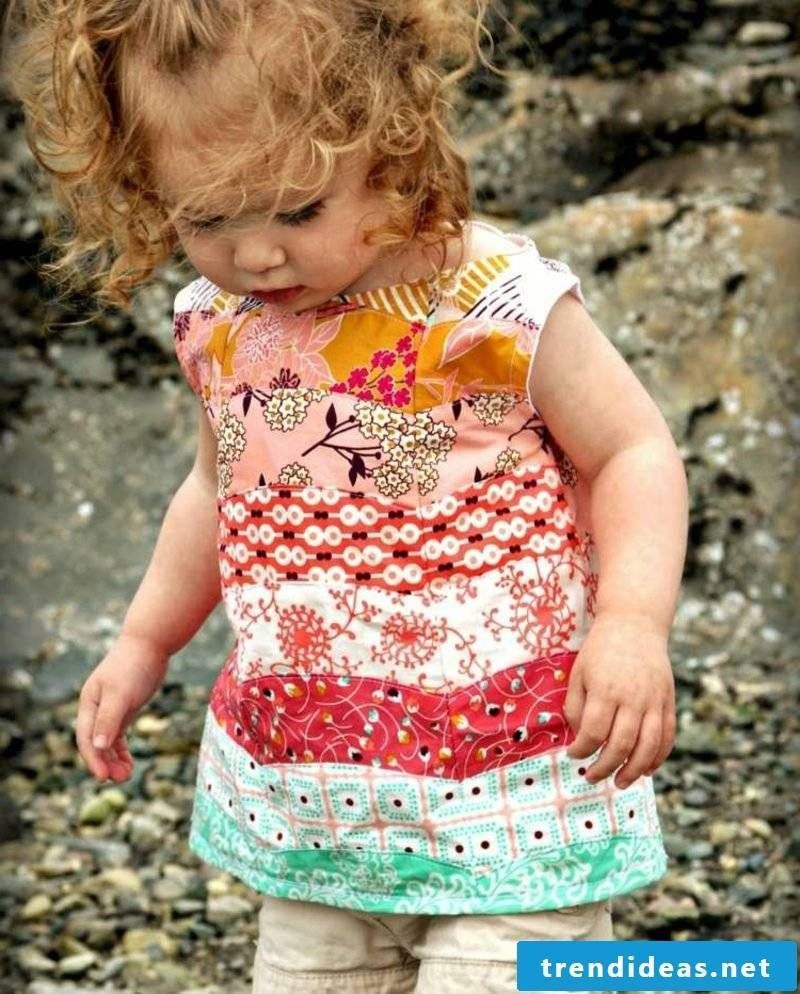 modern blouse patchwork children's clothing