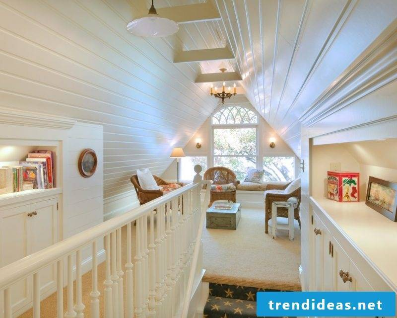 Stair rails yourself build DIY ideas in wood in white