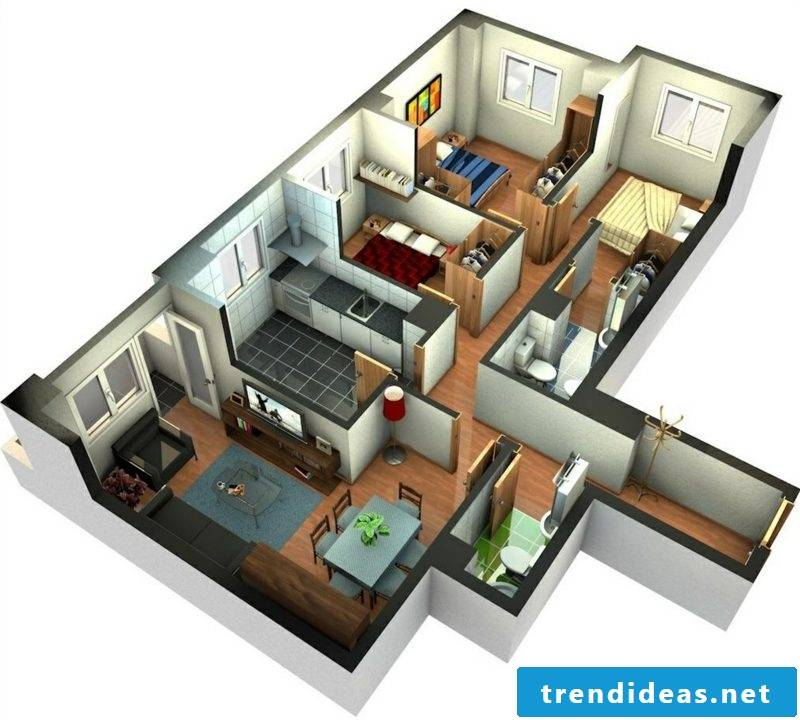 3d room planner design of the living room