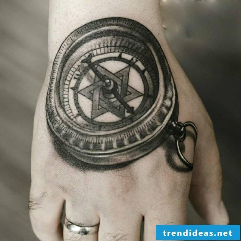 Tattoo templates men hand 3D