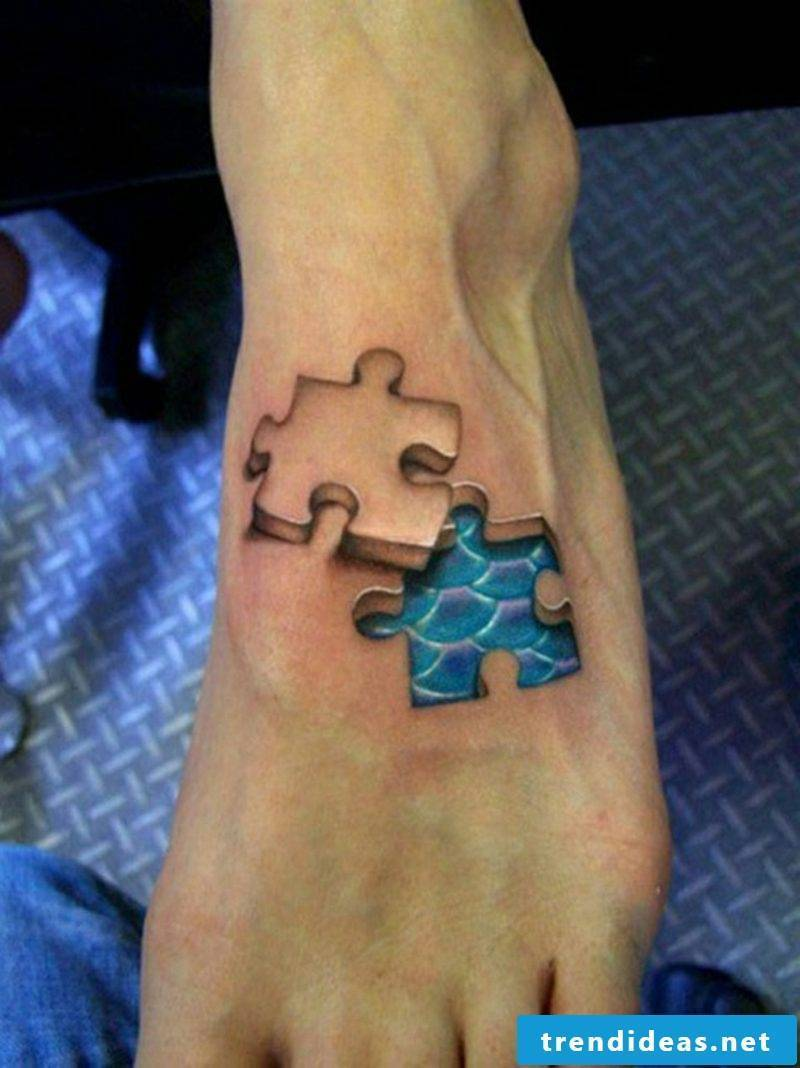 Tattoos woman 3D puzzle