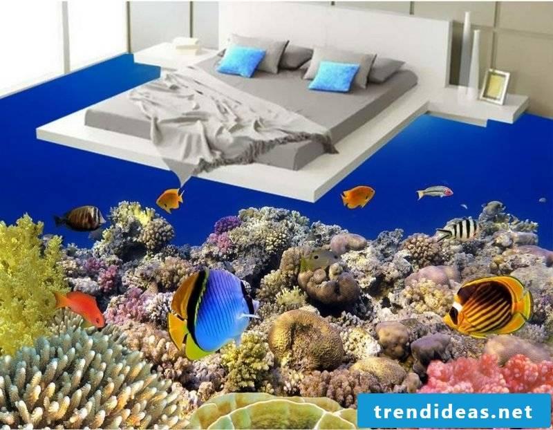 3D tiles room