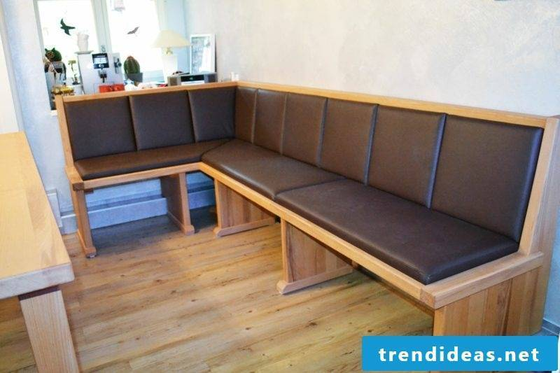Corner bench soft upholstery DIY ideas