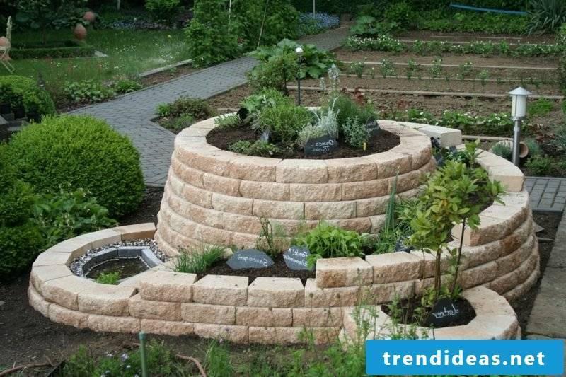 interesting herb snail made of bricks