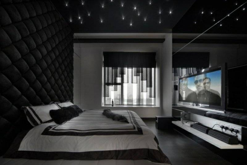 Ceiling design in the bedroom