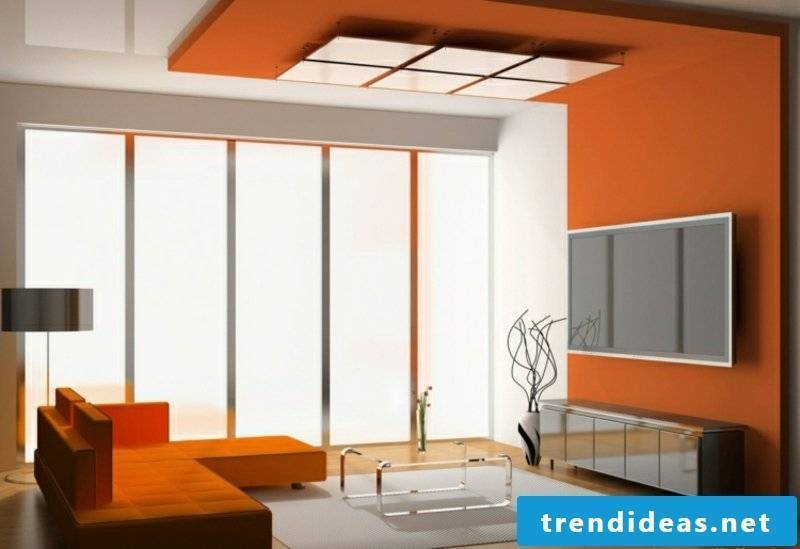 Ceiling trim orange