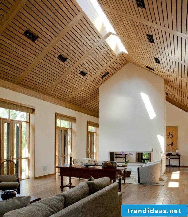 suspended ceiling wood paneling