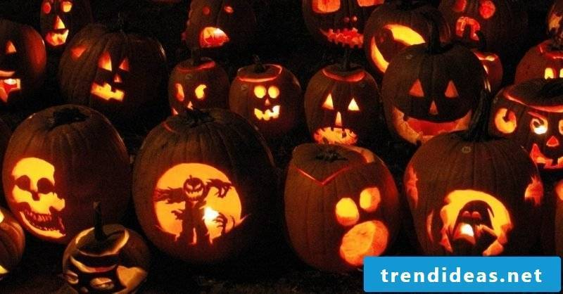 Pumpkin templates with different faces