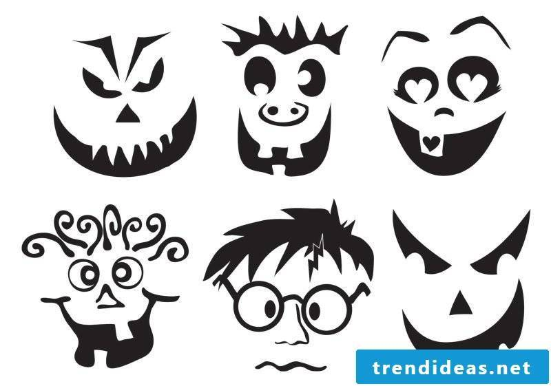 Pumpkin Templates: Choose the right face