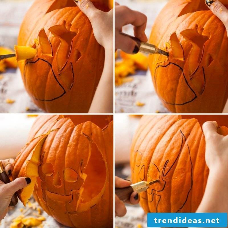 Carve by means of pumpkin templates